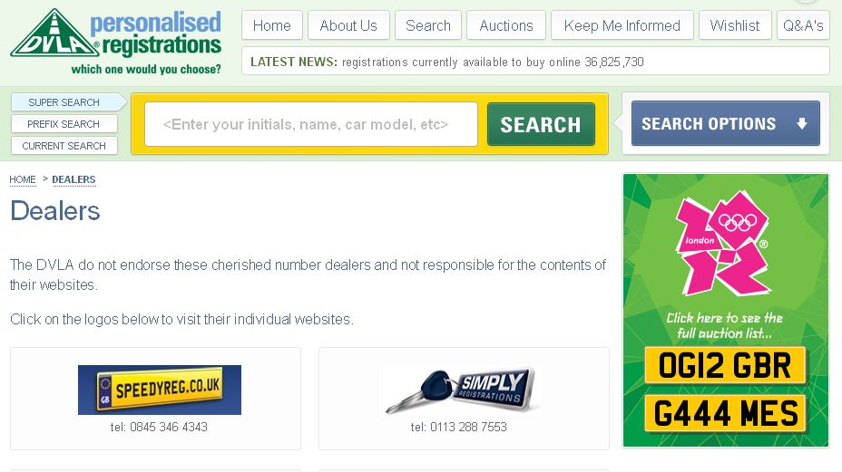 DVLA Dealers screenshot