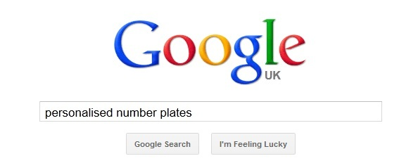 Google search for personalised number plates