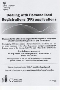 Personalised Registrations Applications